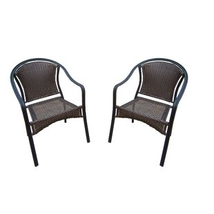 Tuscany Stacking Patio Dining Chair (Set of 2)
