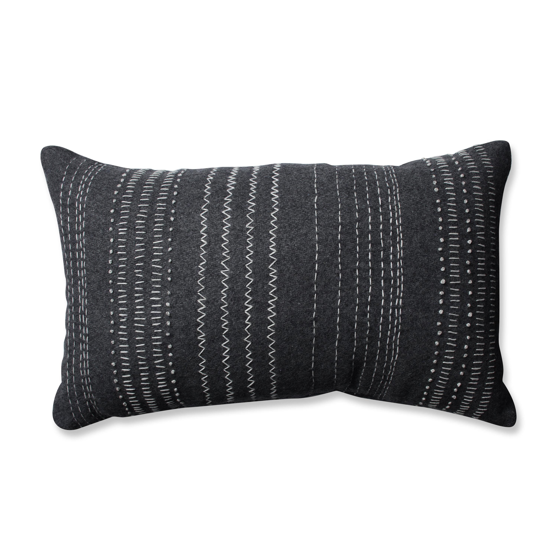 Winston Porter Verdie Tribal Stitches Cotton Lumbar Pillow Reviews Wayfair
