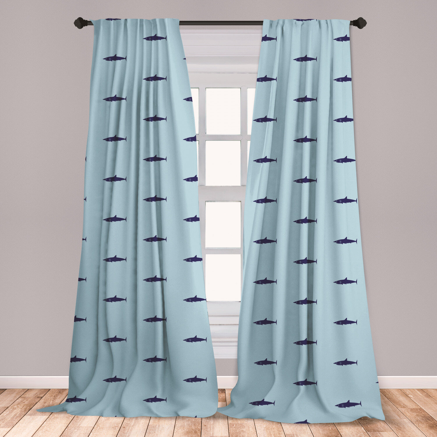 Ocean Sea Curtains Curtains for Living Room Bedroom Window Drapes 2 Panel Set