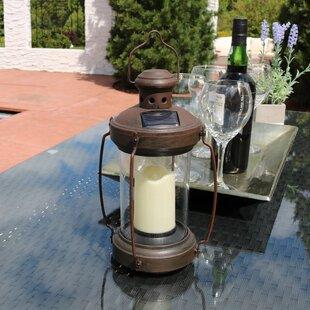 Charlton Home Stoudt Antique Solar Outdoor Hanging Lantern