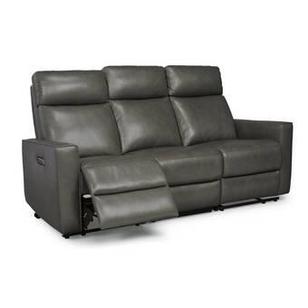 Brayden Studio Georgianna Leather Reclining Sofa | Wayfair