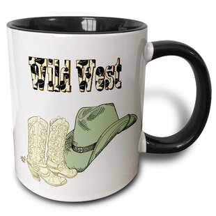 Wild West Cowboy Hat and Boots Coffee Mug