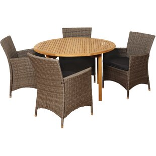 Brighton 5 Piece Dining Set with Cushions