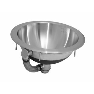 Best Gauge Stainless Steel Circular Undermount Bathroom Sink with Overflow ByJust Manufacturing
