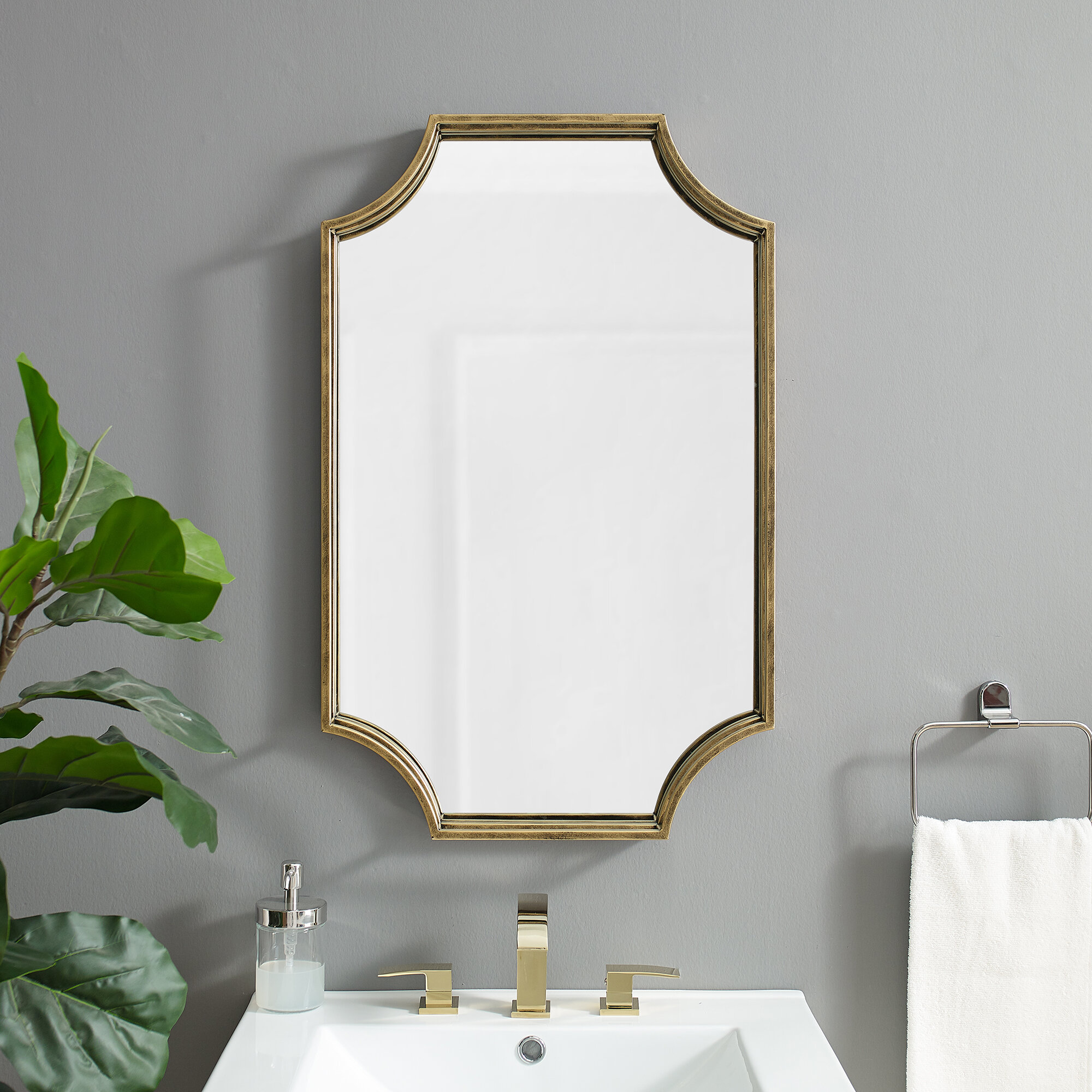 Brass Irregular Mirrors You Ll Love In 2021 Wayfair