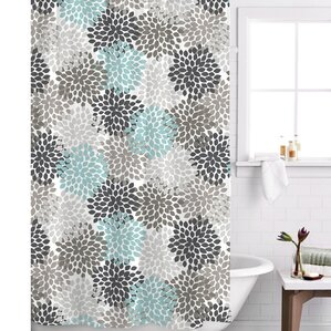 grey and navy shower curtain.  Blue Shower Curtains You ll Love
