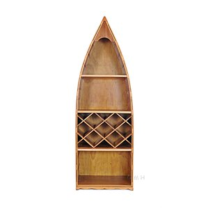 Canoe 7 Bottle Floor Wine Rack by Old Modern Handicrafts