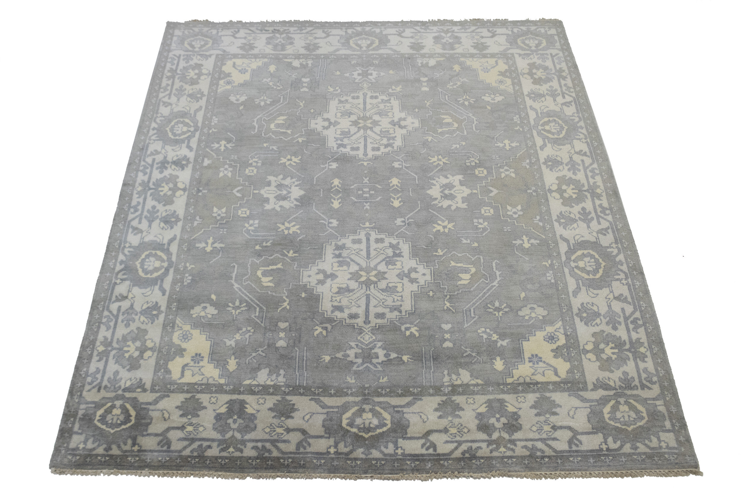 Adminrugs Oriental Hand Knotted Wool Muted Gray Area Rug Wayfair