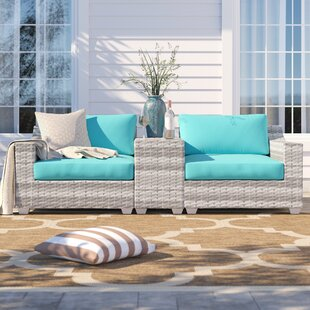 Falmouth 3 Piece Seating Group with Cushions by Sol 72 Outdoor