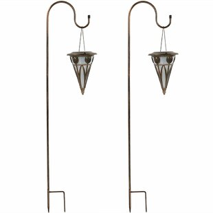Comparison Mignon Decorative Cone Outdoor Hanging Solar Light Garden Stake Set (Set of 2) By Charlton Home