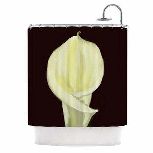 Cyndi Steen Portrait Of A Calla Lily Shower Curtain