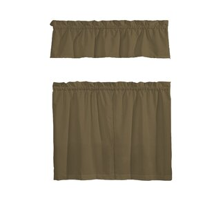 Sherlyn 3 Piece Kitchen Curtain Set By Zipcode Design