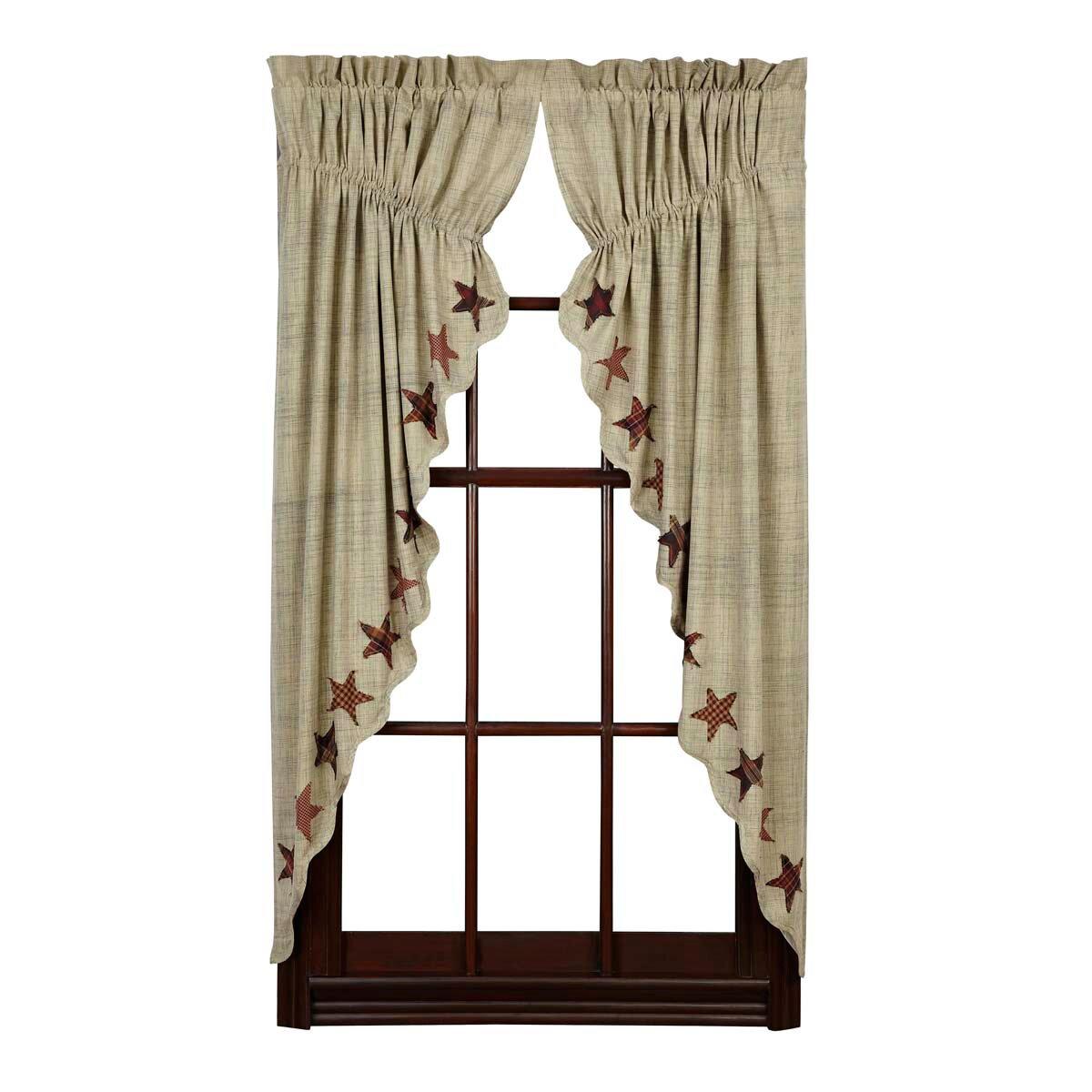 Lydia Geometric Semi Sheer Rod Pocket Curtain Panels Set Of 2