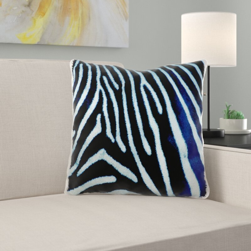 Moose Zebra Animal Print Pillow Cover