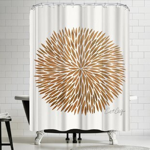 Gold Burst Single Shower Curtain
