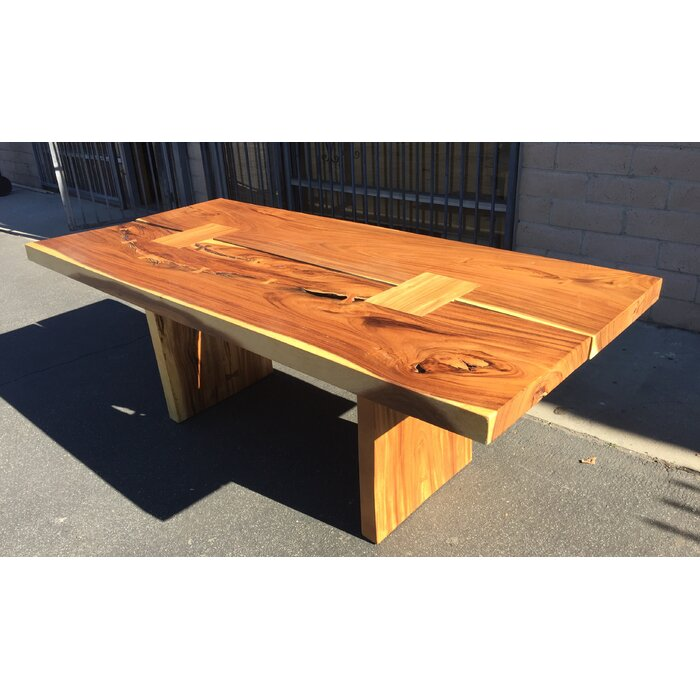 Braaten Double Slab Solid Wood Dining Table