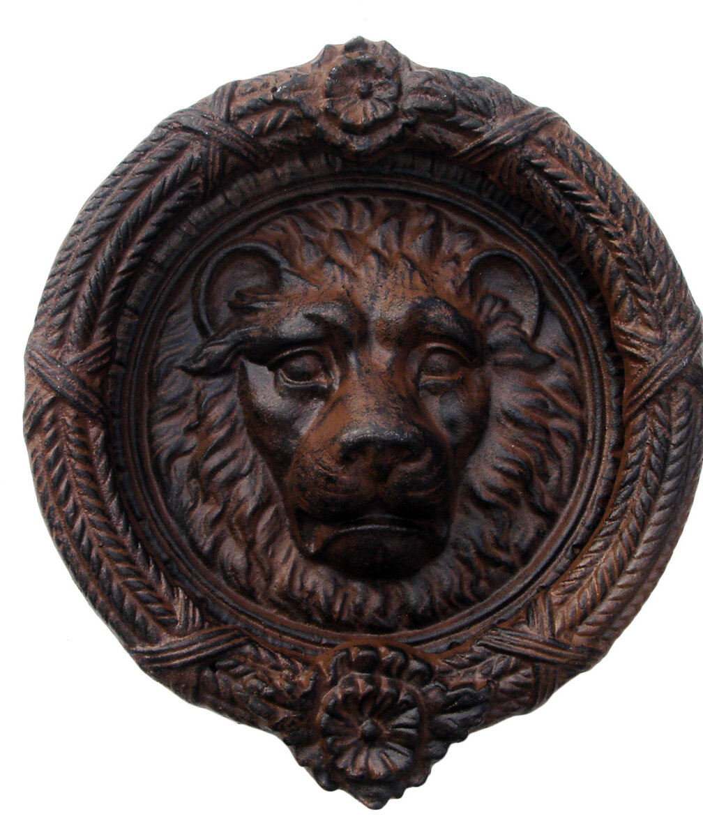 cast iron Roman lion hardware pcs 8 Large lion head door handle Roman decor Large door pull free shipping 8 58 HW-21