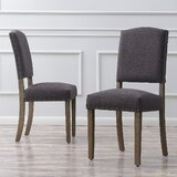 Rodarte Linen Upholstered Side Chair (Set of 2) by Gracie Oaks