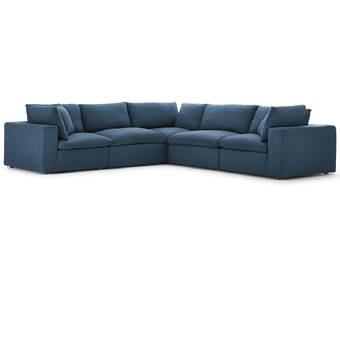 Remarkable Clarita Overstuffed Modular Sectional With Ottoman Reviews Gmtry Best Dining Table And Chair Ideas Images Gmtryco