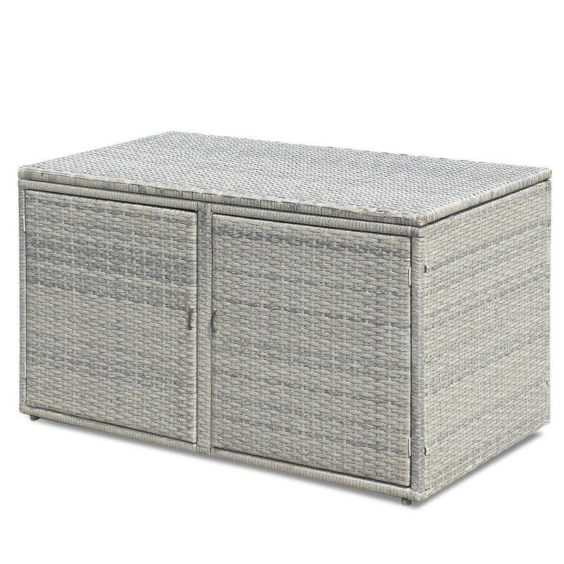 ANGELES HOME 88 Gallon Rattan Deck Box