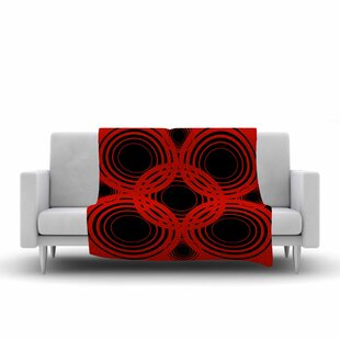 Affordable Kathryn Pledger Geo Crimson Geometric Fleece Blanket By East Urban Home