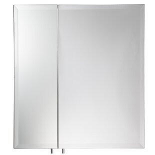Croydex Dempsey 61cm X 61cm Surface Mount Mirror Cabinet By Symple Stuff