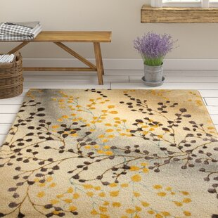 Queensbury Gold/Purple Area Rug by Three Posts