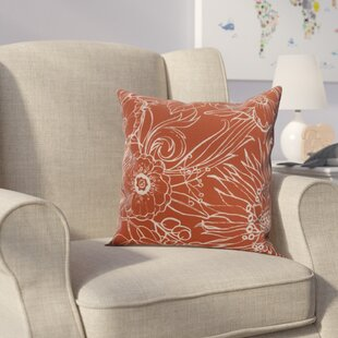 Derick Floral Print Throw Pillow
