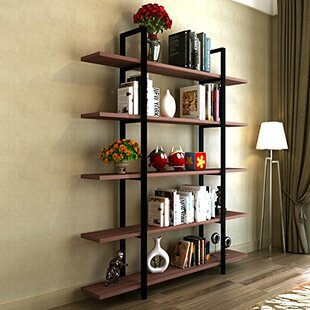 Williston Forge Melia Vintage Industrial Style 5-Tier Etagere Bookcase