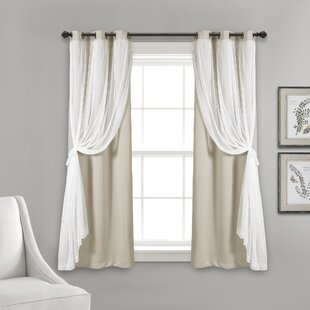 Busselton Sheer Solid Blackout Thermal Grommet Curtain Panels (Set of 2) by Ophelia & Co.