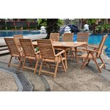 Dallin Luxurious 9 Piece Teak Dining Set
