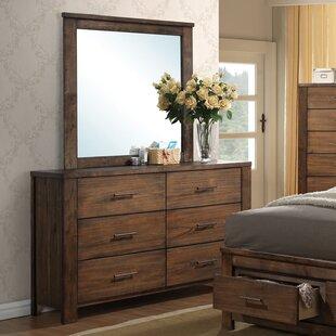Schlesinger 6 Drawer Double Dresser with Mirror