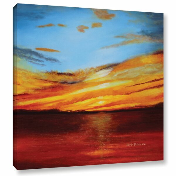 Latitude Run Tranquill Sunset Painting Print On Wrapped Canvas Wayfair