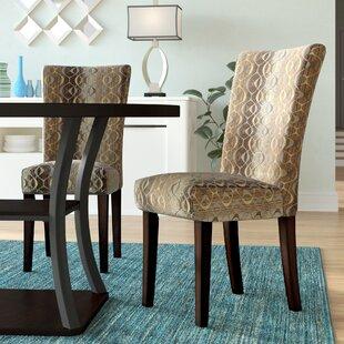 Latitude Run Etna Stripe Side Chair (Set of 2)