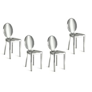 Poppe Arm Less Dining Chair (Set of 4) (S..