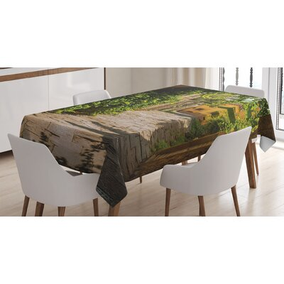 Medieval Streets Tablecloth East Urban Home