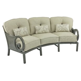 Leona Riviera Crescent Patio Sofa with Cushions