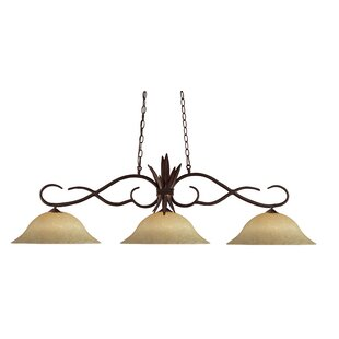 Fleur De Lis Living Beehler 3-Light Pool Table Lights