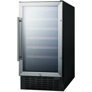 Summit 18-inch 34 Bottle Single Zone Built-In Wine Cooler by Summit Appliance