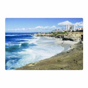 Nick Nareshni Beach Playground Blue/White Area Rug
