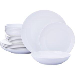 Dorcester Fine China 18 Piece Dinnerware Set