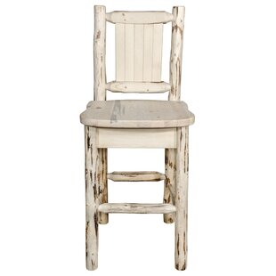Peabody Slat Back 24 Bar Stool Loon Peak
