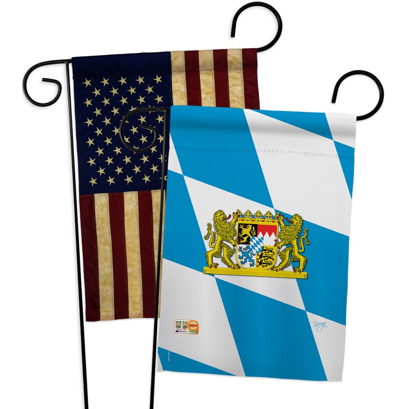 Breeze Decor Bavaria Impressions Decorative 2 Sided Polyester 19 X 13 In 2 Piece Garden Flag Set Wayfair