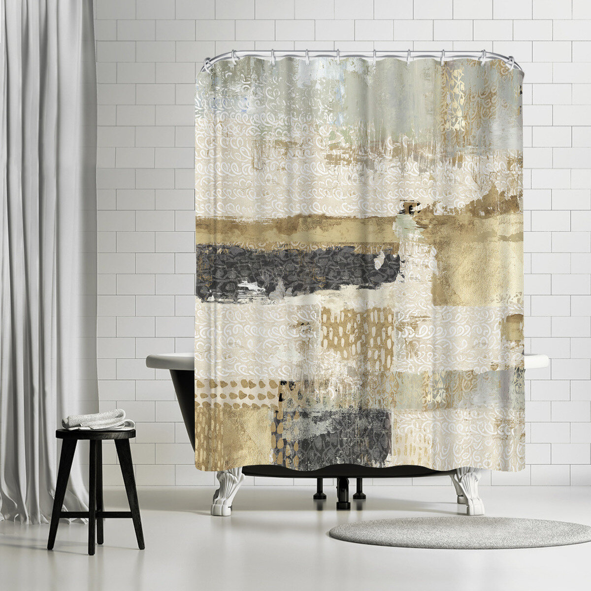 East Urban Home Pi Creative Art Bare Ii Single Shower Curtain Wayfair