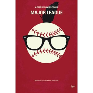 'Major League Minimal Movie Poster' by Chungkong Vintage Advertisement on Wrapped Canvas
