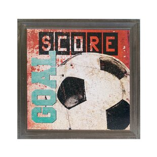 Wood Soccer Sign Graphic Art