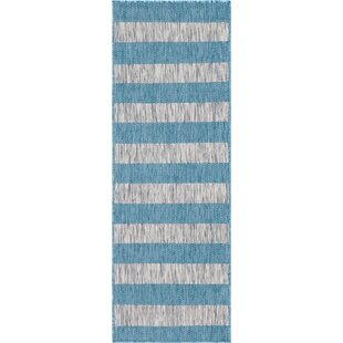 Hong Blue/Gray Indoor/Outdoor Area Rug