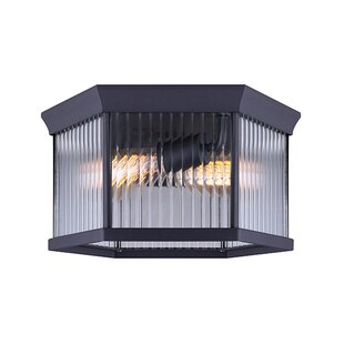 Charlton Home Rickards 2-Light Outdoor Flush Mount