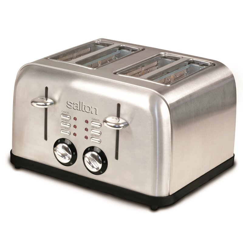 4-Slice Electronic Stainless Steel Toaster