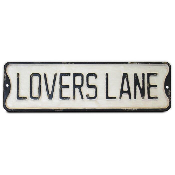 Lovers Lane Vintage Sign Metal Wall Decor